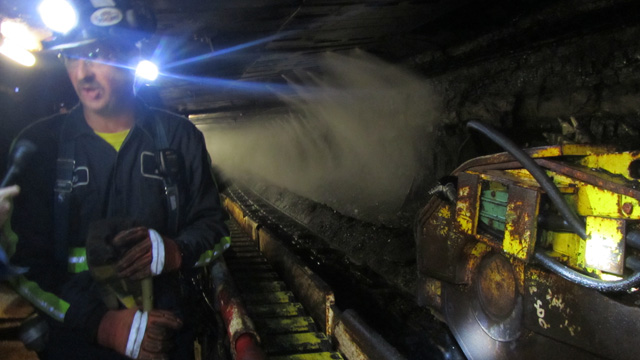 Inside a coal mine in Greene County, Pennsylvania. (Kimberly Paynter/WHYY)
