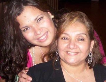 Erika Almirón pictured with her mother, Nilda Almirón Niz. Almirón is a social justice activist who is awaiting the results of a coronavirus test and is self-quarantining from family in the meantime. (Liliana Almirón)