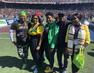 Andrea Lawful-Sanders with members of Team Jamaica Bickle. (photo provided)
