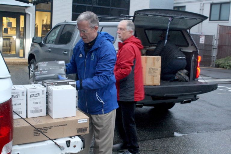 The University of Delaware is donating supplies of personal protection equipment from shuttered research labs to the Delaware Emergency Management Agency. (Mark Eichmann/WHYY)