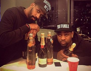 De'Von Pickett (left) was stabbed outside a Stenton Avenue bar in February 2015 before going on a tour. He was Nicki Minaj's stage manager. In this photo, Pickett is with friend Eric Parker (right). (instagram)