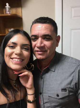 Solmaira Valerio and her father Ricardo. (Courtesy of Solmaira Valerio)