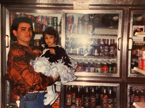 Solmaira Valerio and her dad, Ricardo, who owns a bodega and restaurant. (Courtesy of Solmaira Valerio)
