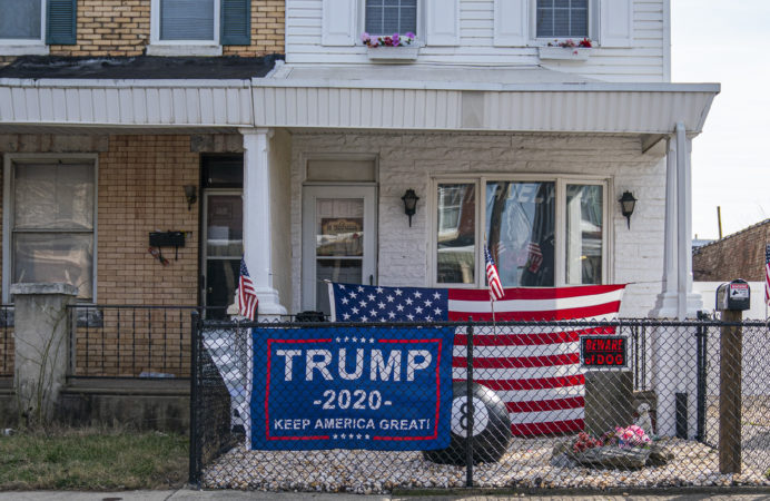 Registered Democrats dominate Bridesburg, but the neighborhood voted overwhelmingly for President Trump in 2016. (Jessica Kourkounis for Keystone Crossroads)