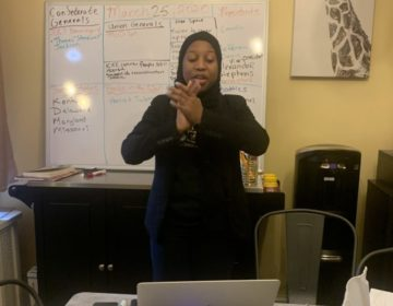 Northeast High School teacher Keziah Ridgeway teaching her online course. (Courtesy of Keziah Ridgeway)