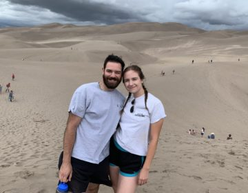 Steve Lehman and Katya Shipyatsky at the Great Sand Dunes in Colorado. (Image courtesy of Steve Lehman)
