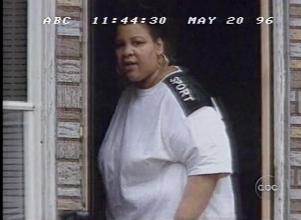Bridget Ward, as shown in Nightline's feature on racism in Bridesburg in 1996. (Vanderbuilt Television News Archive)