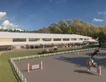 Work to Ride's design will be reviewed further by the Art Commission this summer. (Rendering from Archer & Buchanan)