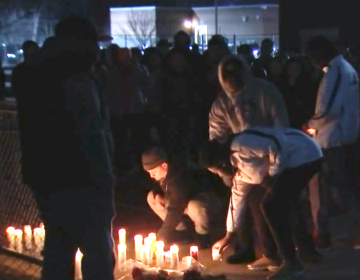 A vigil was held Monday night for Zaire Williams, a former Temple University football player who was shot and killed in Philadelphia. (Screenshot/NBC 10 Philadelphia)