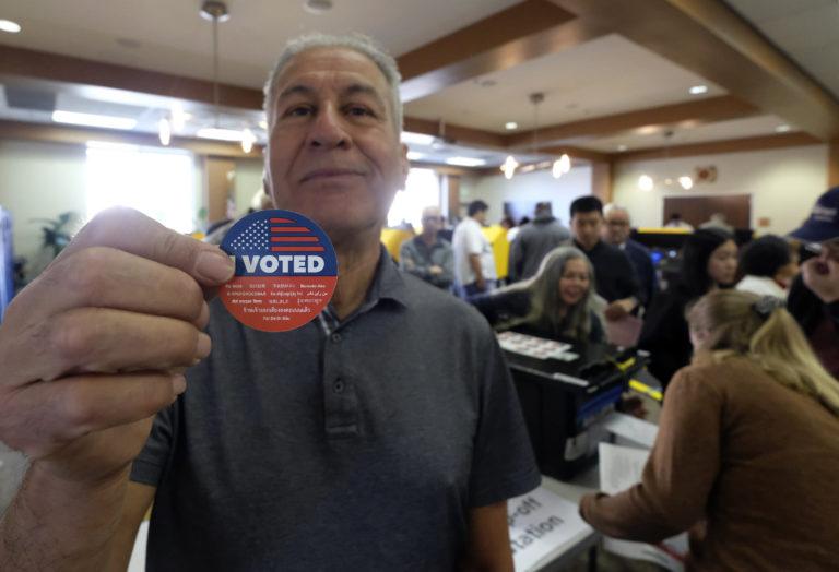Frank Salazar, 70, shows an