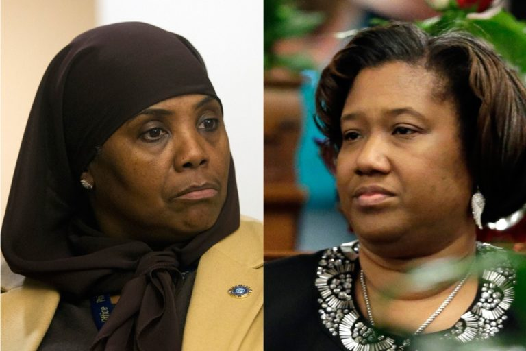 Movita Johnson-Harrell (left) and Vanessa Lowery Brown (right) both served in the Pennsylvania House of Representatives, representing the 190th district. Both left office before their terms were over because of criminal charges, triggering special elections. (AP file photos)