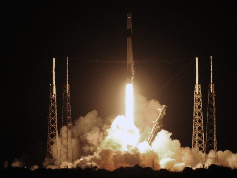 A SpaceX Falcon 9 rocket carrying more than 4,300 pounds of science and research, crew supplies and vehicle hardware to the International Space Station launches from pad 40 at Cape Canaveral Air Force Station in Florida. (SOPA Images/SOPA Images/LightRocket via Getty Images)