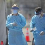 Coronavirus testing site in Camden, New Jersey