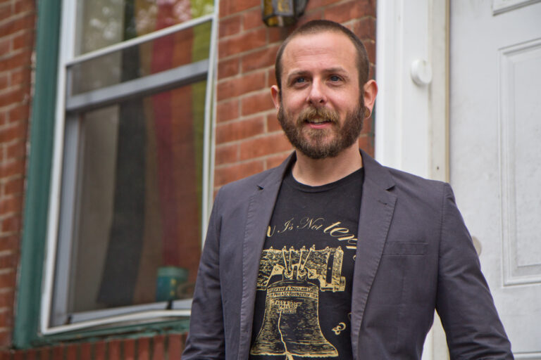 Ed Coffin runs Natural and Organic Marketing. He's running the firm from his home in South Philadelphia. (Kimberly Paynter/WHYY)