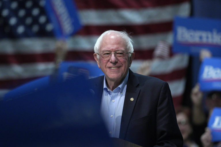 Sen. Bernie Sanders, I-Vt, speaks at a rally in Council Bluffs, Iowa, Thursday, March 7, 2019. (AP Photo/Nati Harnik)