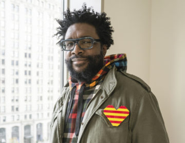 "This Nov. 19, 2019 photo shows Questlove posing for a portrait in New York to promote his cookbook ""Mixtape Potluck."" (Photo by Matt Licari/Invision/AP)"