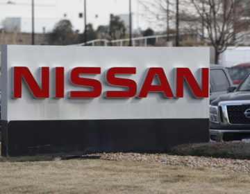 The company logo stands outside a Nissan dealership in Highlands Ranch, Colo. Nissan is recalling more than a quarter-million SUVs, trucks and vans worldwide, Thursday, April 2,  to replace potentially dangerous Takata air bag inflators. (David Zalubowski, AP Photo, File)