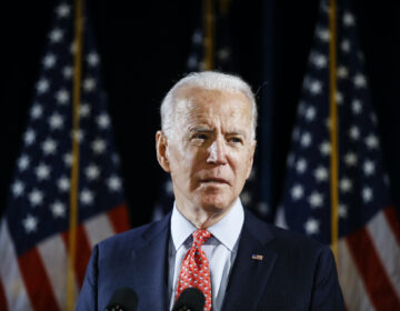 In this March 12, 2020, file photo Democratic presidential candidate former Vice President Joe Biden speaks about the coronavirus in Wilmington, Del. (Matt Rourke/AP Photo)