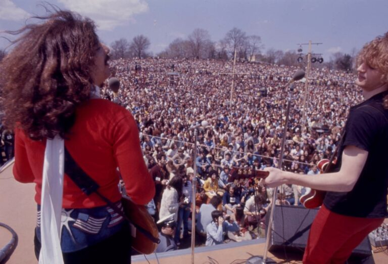 American Dream performs at the Earth Day Rally at Belmont Plateau in Fairmount Park on April 22,1970. (Special Collections Research Center. Temple University Libraries)