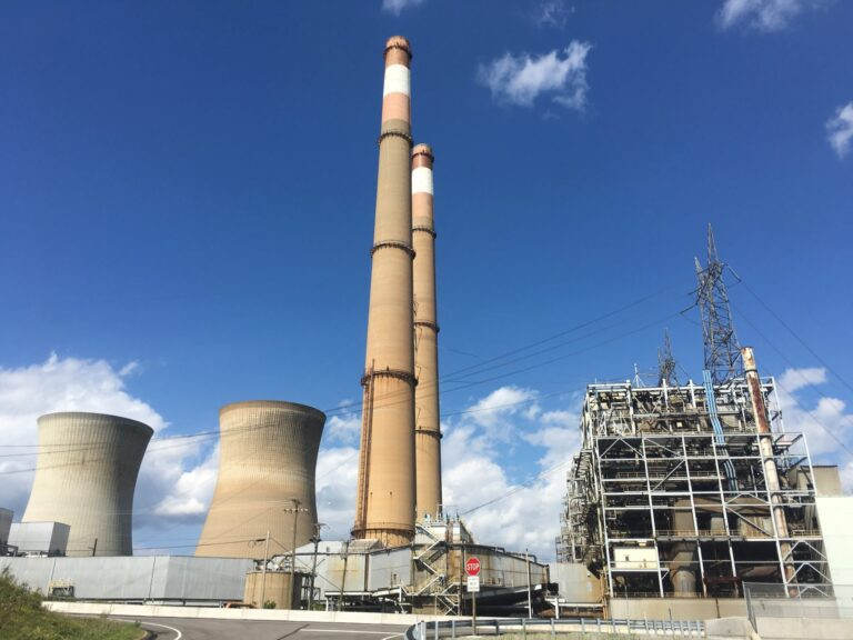 FirstEnergy's Hatfield Ferry coal plant in Greene County closed in 2013 amid poor market conditions, helping Pennsylvania to meet its emissions targets under the federal Clean Power Plan. (Marie Cusick/StateImpact Pennsylvania)