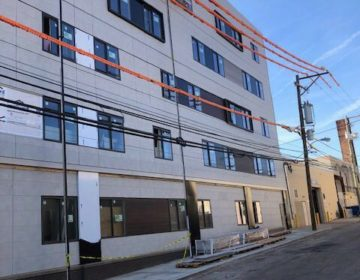 A 100-unit student housing project at 4200 Ludlow Street, owned by the HOW Group. The project was placed on hold due to a business shutdown aimed at containing the COVID-19 virus. (Courtesy of HOW Group)