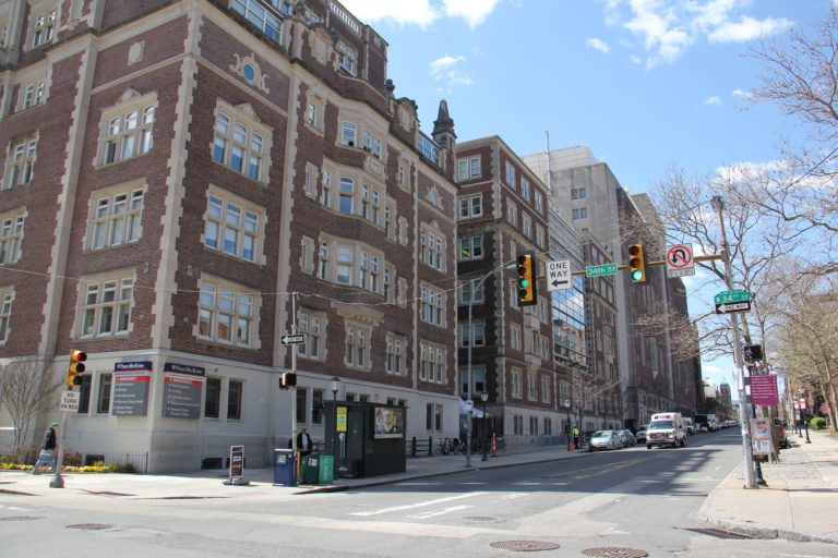 The Hospital of the University of Pennsylvania is reportedly considering erecting a medical hospital on Spruce Street between 34th and 36th Streets. (Emma Lee/WHYY)