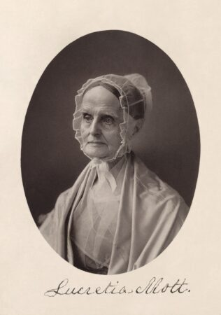Lucretia Mott, the white abolitionist, equal-rights activist and women's suffrage leader who was honored at the meeting after the 1870 march. (Library of Congress)