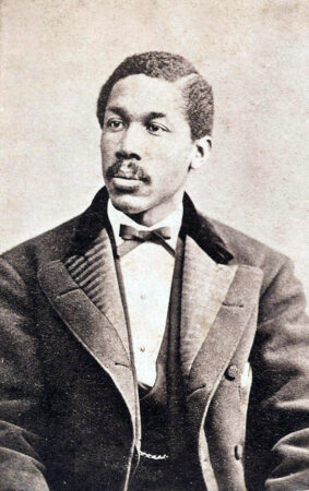 A photograph of Octavius V. Catto, taken around 1870. He told marchers the black man would vote Republican 'so long as' the party stood for equal rights. (Urban Archives Temple University)