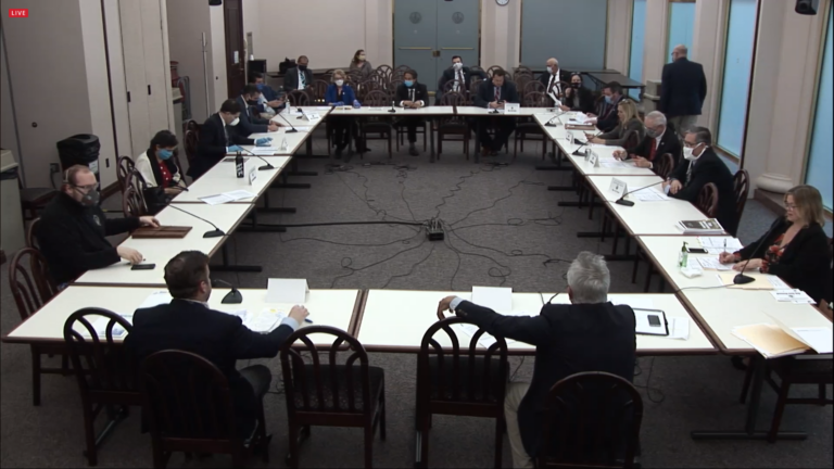 The House State Government Committee meets on April 27, 2020.