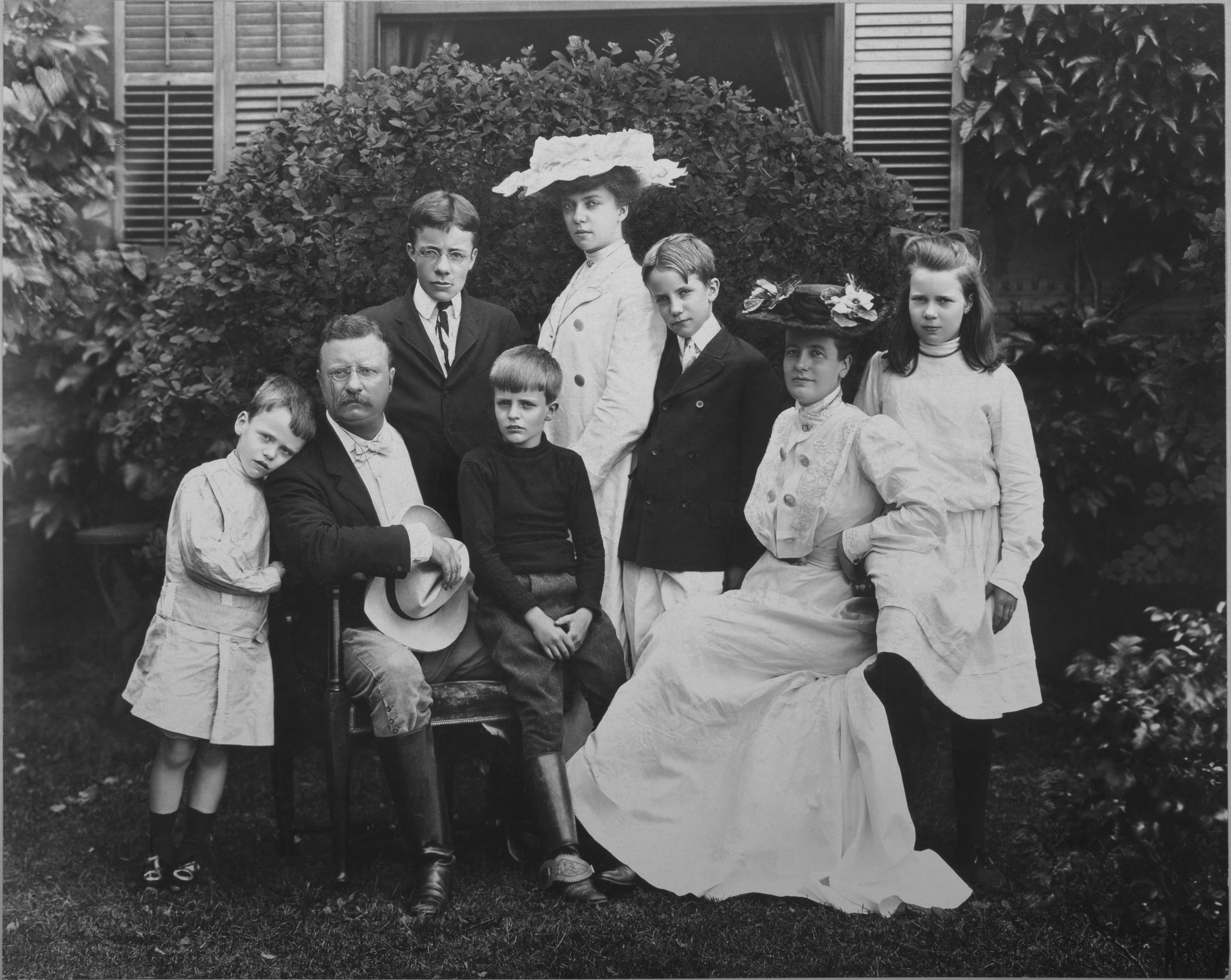 President Theodore Roosevelt with his family
