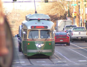 SEPTA Route 15 trolley car. (NBC10)