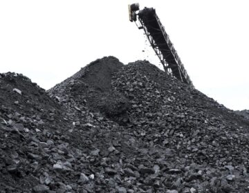 Coal is piled up at the the Blaschak Coal Corporation pit mine