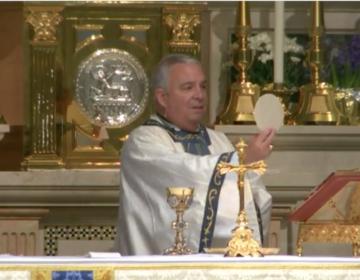 Archbishop Nelson Pérez, Philadelphia's new Catholic archbishop, during Easter Mass. (Screenshot)