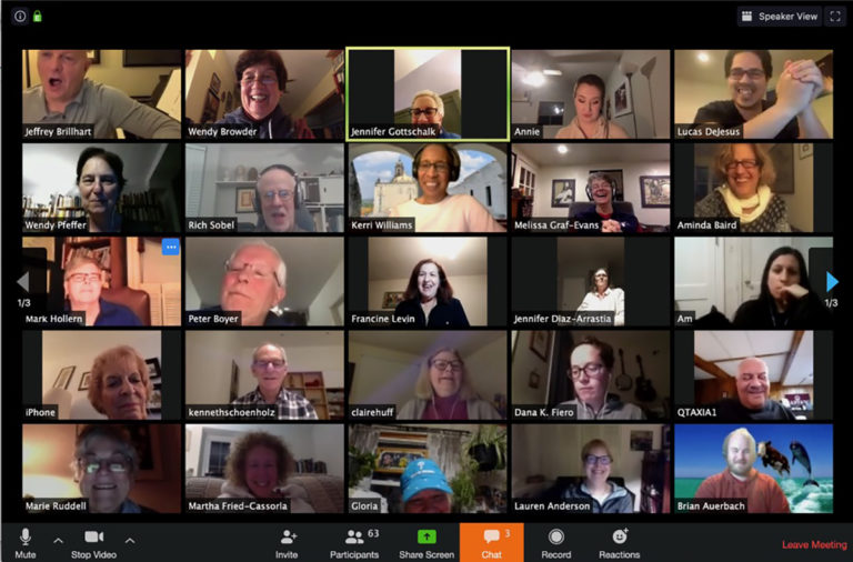 Members of the Singing City Choir hold a virtual practice using the Zoom video meeting app. (Courtesy of Singing City Choir)