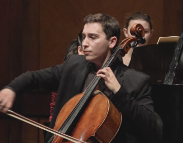 Cellist Oliver Herbert, On Stage at Curtis