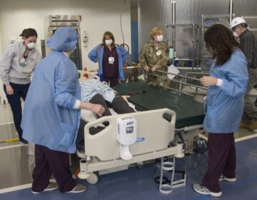 duPont Hospital, ChristianaCare hospital system staff and the Delaware National Guard conduct training