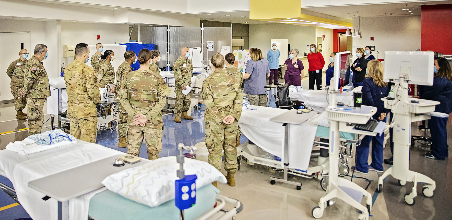 Delaware National Guard helps set up care site at duPont Hospital