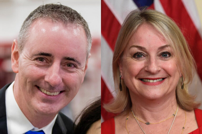 Republican U.S. Rep Brian Fitzpatrick (left), representing Pennsylvania's  1st District and Democratic U.S. Rep. Susan Wild (right), representing Pennsylvania's 7th District. (AP file photos)