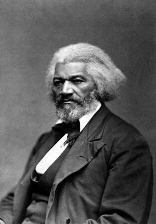 Frederick Douglass in about 1870, the year he took part in Philadelphia's Fifteenth Amendment march. (National Archives Gift Collection)
