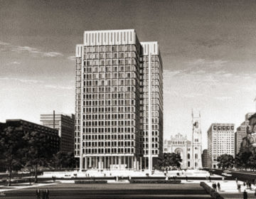 A rendering of MSB by Kling Architects (Phillyhistory.org)