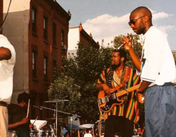 Scott Storch (far right) performing with The Roots at a North Philly block party in 1993 INSTAGRAM / @SCOTTSTORCHOFFICIAL