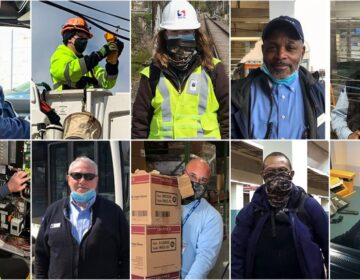 Some of the essential workers keeping SEPTA running. (Courtesy of SEPTA)