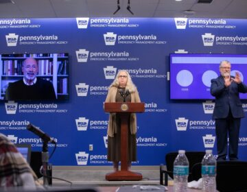 Pennsylvania Health Secretary Rachel Levine holds a daily briefing on COVID-19. (Commonwealth Media Services)