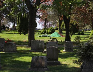 Glendale Cemetery in Bloomfield, like many other cemeteries in northern New Jersey, has seen a sharp increase in burials since the coronavirus pandemic struck the region. (Emma Lee/WHYY)