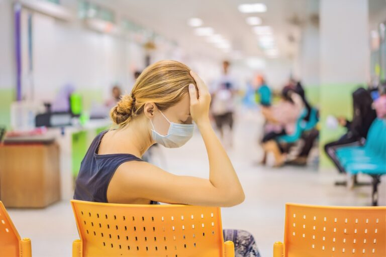 Waiting rooms in hospitals and doctors' offices will look different because of social distancing requirements. (Bigstock/galitskaya)