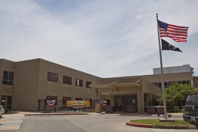 The U.S. Dept. of Veterans Affairs Community Living Center in West Philadelphia. (Kimberly Paynter/WHYY)