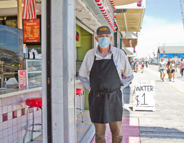 Mike Madaf has owned the White Dolphin for 30 years, and he said he's never seen business so slow. (Kimberly Paynter/WHYY)