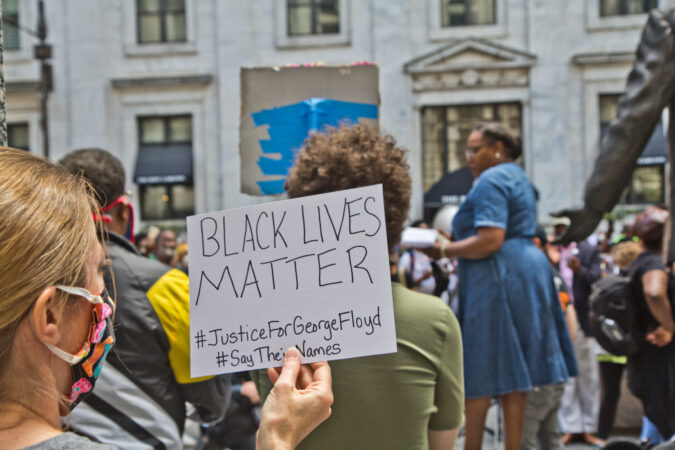 Philadelphians peacefully protested the deaths of unarmed Black men