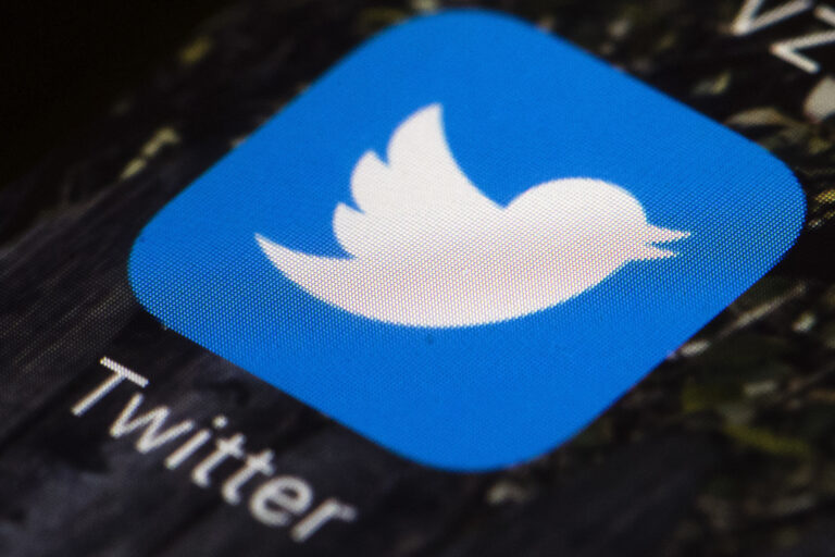 This April 26, 2017, file photo shows the Twitter app icon on a mobile phone in Philadelphia. (AP Photo/Matt Rourke)