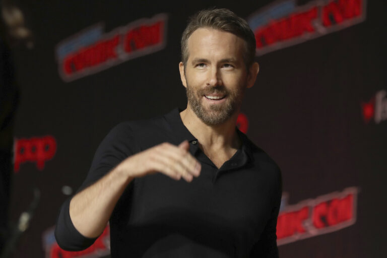 This Oct. 3, 2019 file photo shows Ryan Reynolds at New York Comic Con. (AP Photo/Steve Luciano)